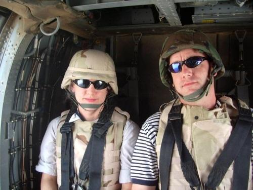 Mary & Alex in Baghdad, Iraq