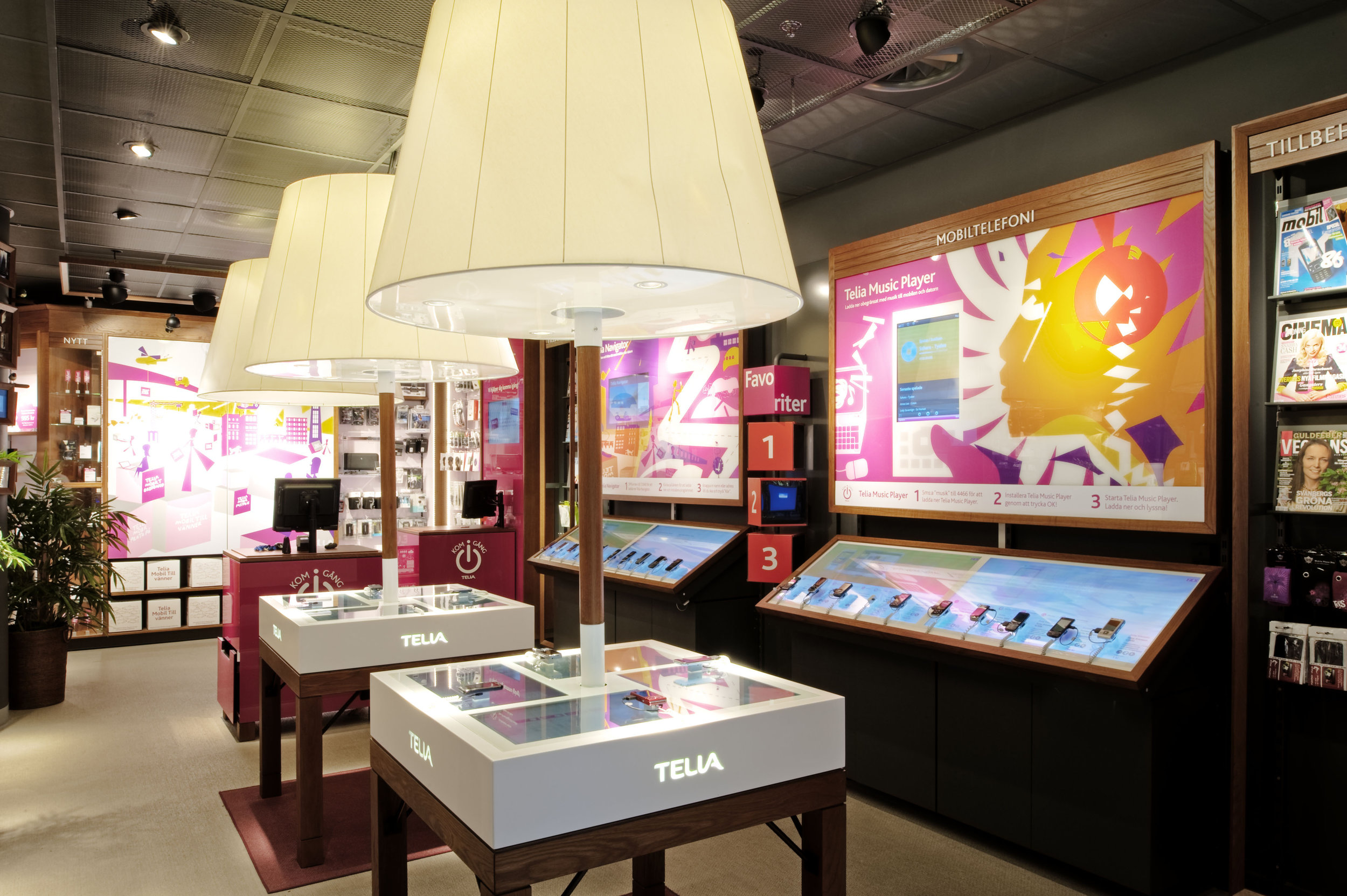 Telia  / Assignment at BLINK / Project: Retail concept, launched in 2009 / Role in project: Creative direction and implementation  Photo by BLINK