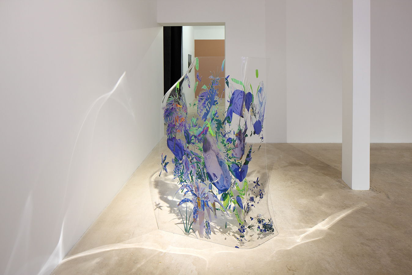 Rachel Rossin    Use a Fiberglass Boat  UV print on plexiglass 60 x 66 x 24 in (152.4 x 167.6 x 61 cm)