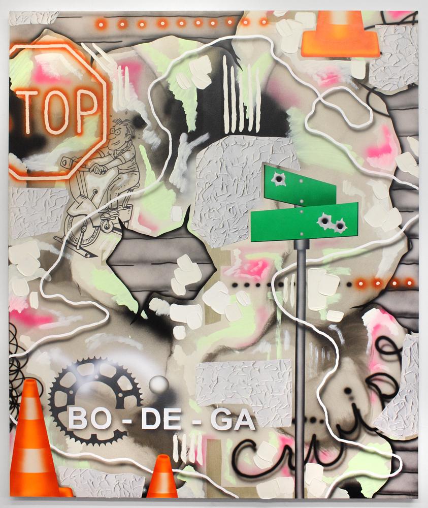 Josh Reames    Bo-De-Ga  Acrylic on canvas 60 x 50 in(152.4 x 127 cm)