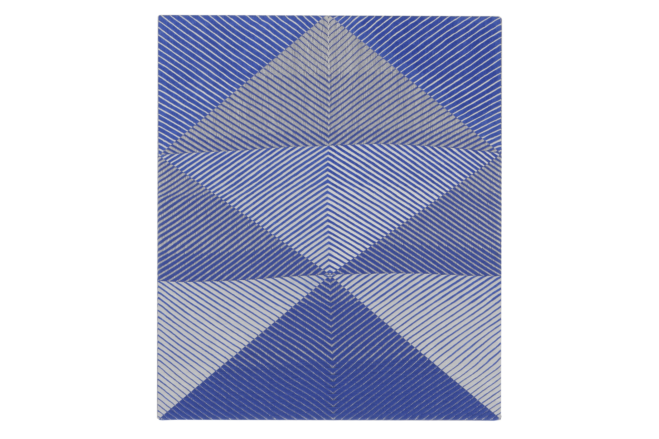 Samantha Bittman    Untitled   Acrylic on hand-woven textile  20 x 16 in (50.8 x 40.6 cm)