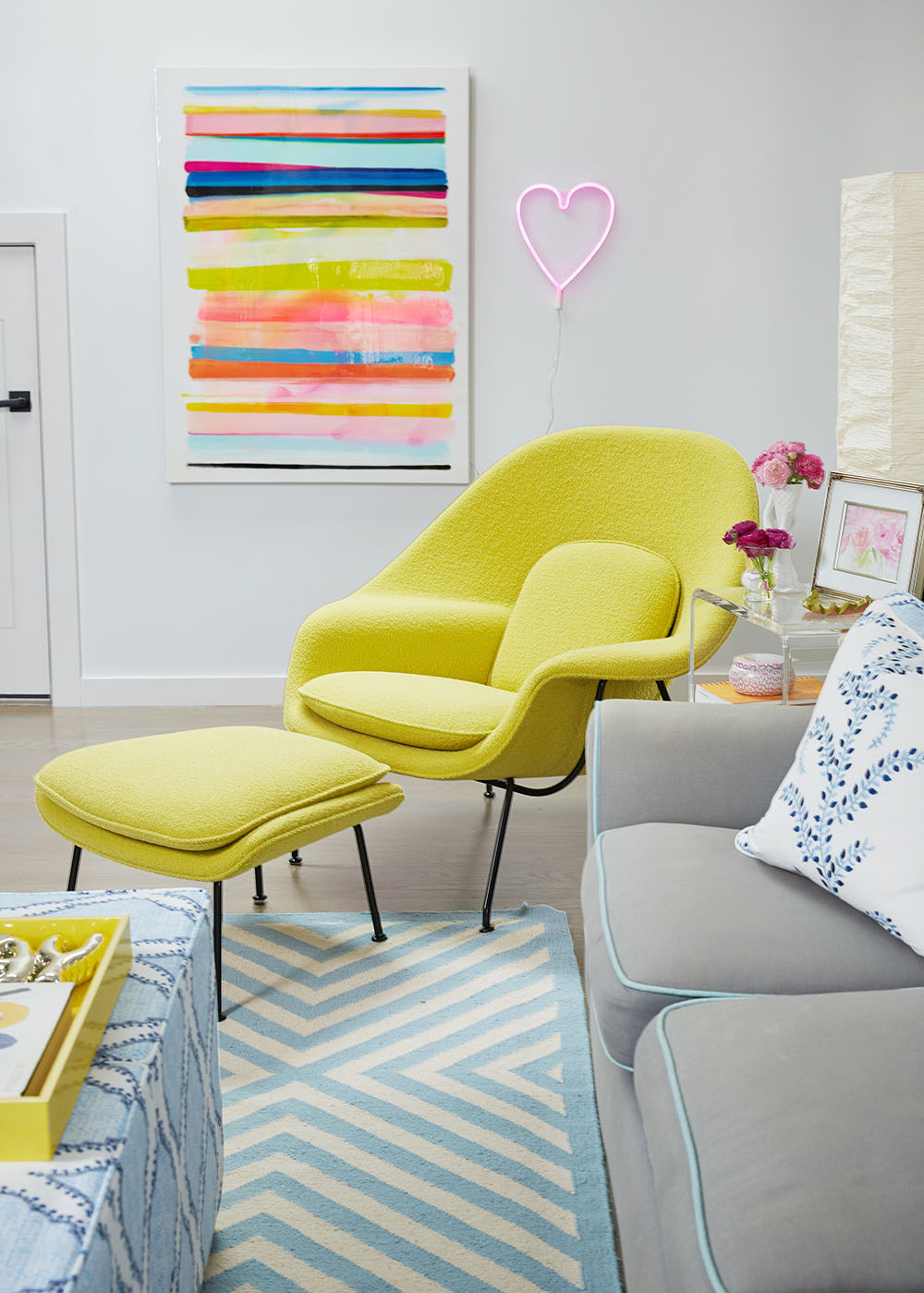 Mimosa-Lane-Blog-One-Room-Challenge.jpg, GeeGee-collins, Womb-Chair, Design-within-reach