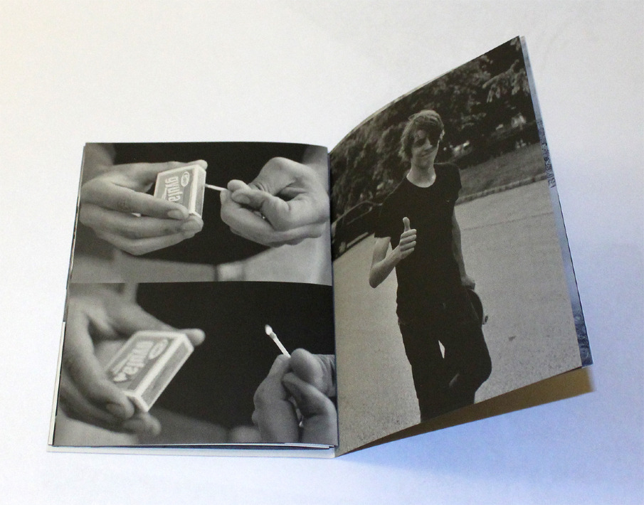 Alexis Catry   SINCE 1989 —  28 pages — black print — gray and fluorescent paper 13,8 x 18,5 cmr