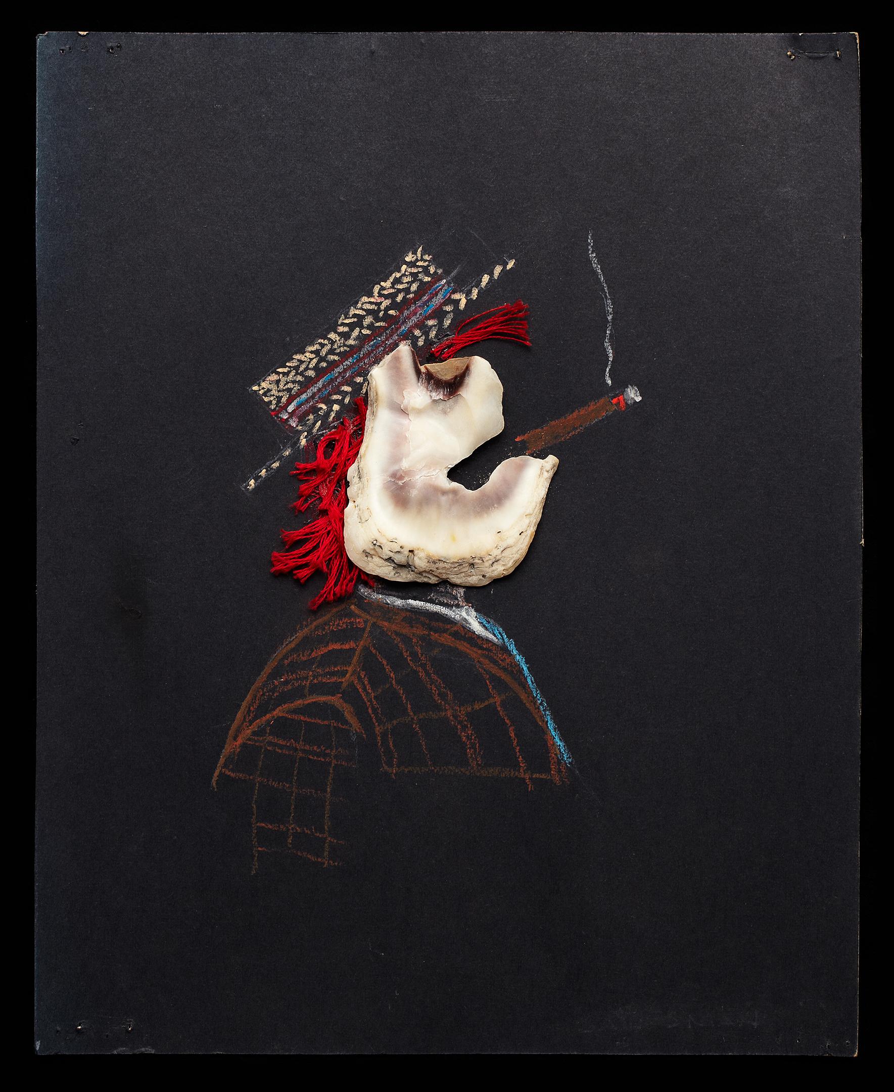 ShellArt-SmokingRedHairedMan by Thomas Wilson Laney