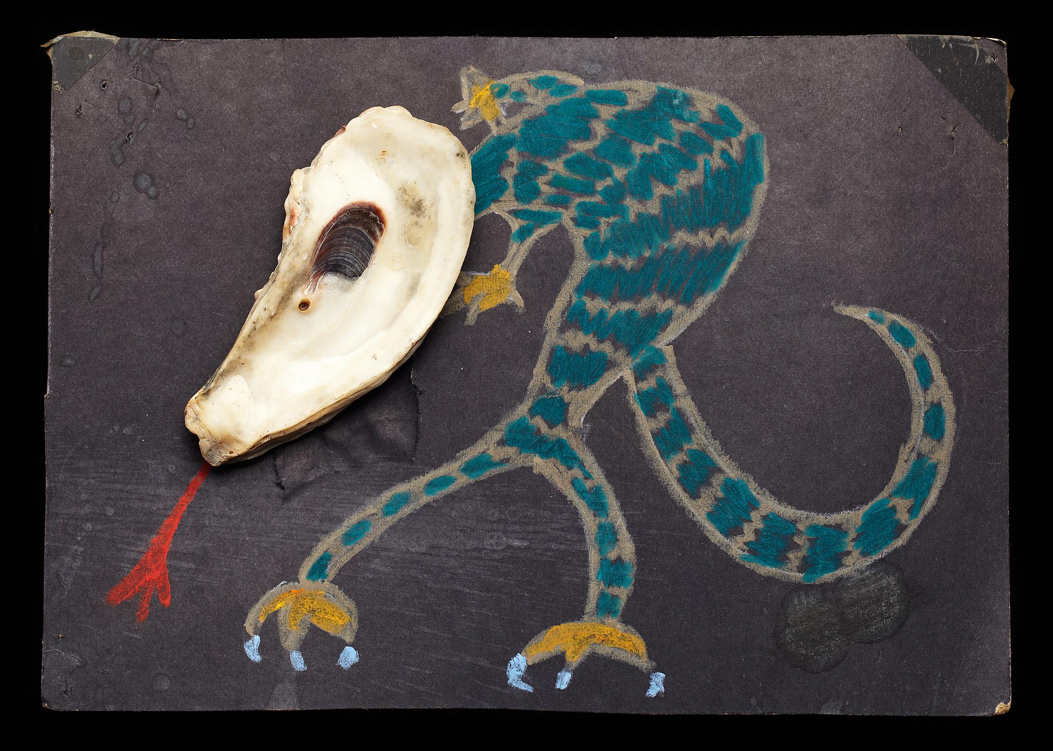 ShellArt-LizardMan by Thomas Wilson Laney