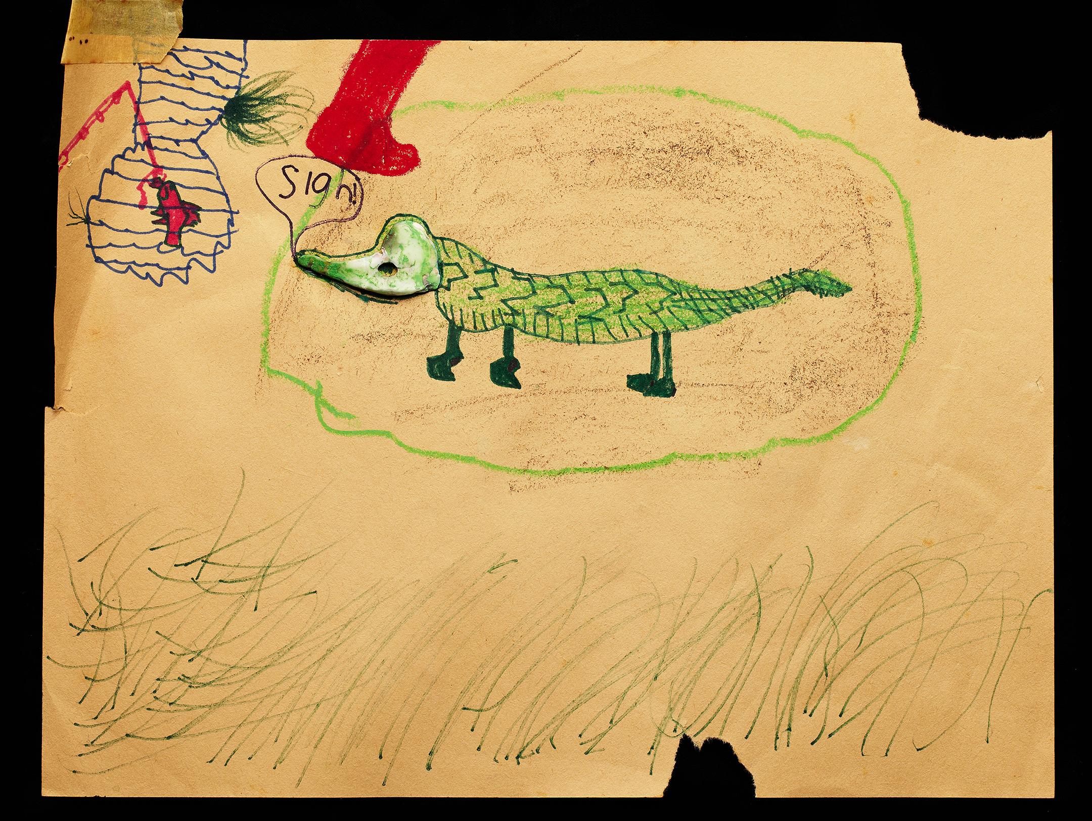 ShellArt- Alligator by Cyndi Long (?)
