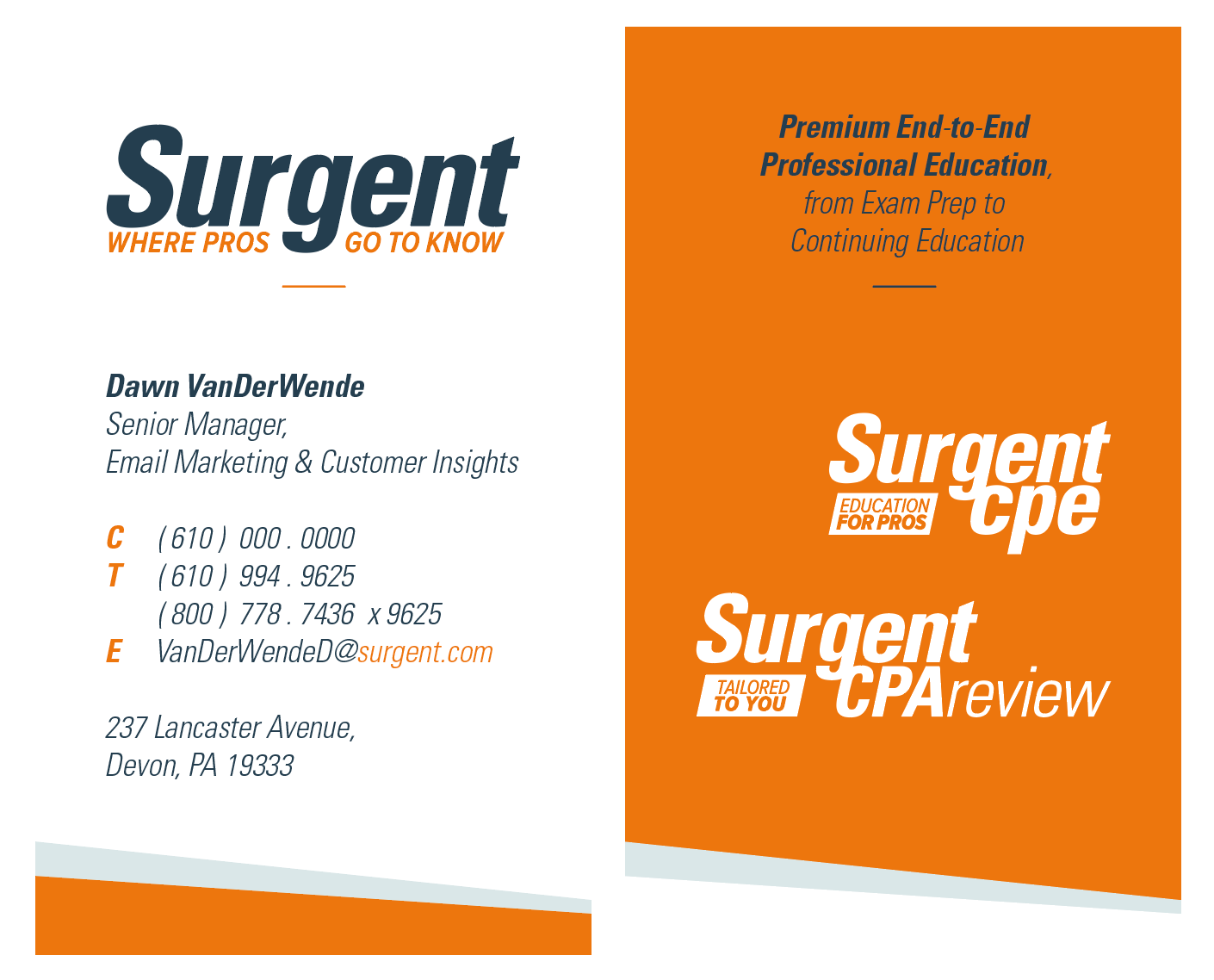 Business card redesign.