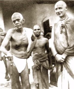 Krishna Prem with Sri Ramana Maharshi