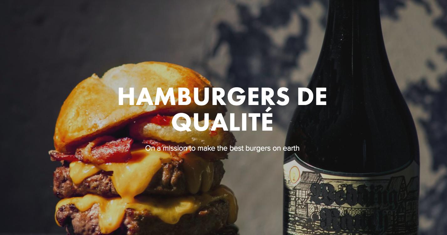 Site du restaurant PNY - Paris New York