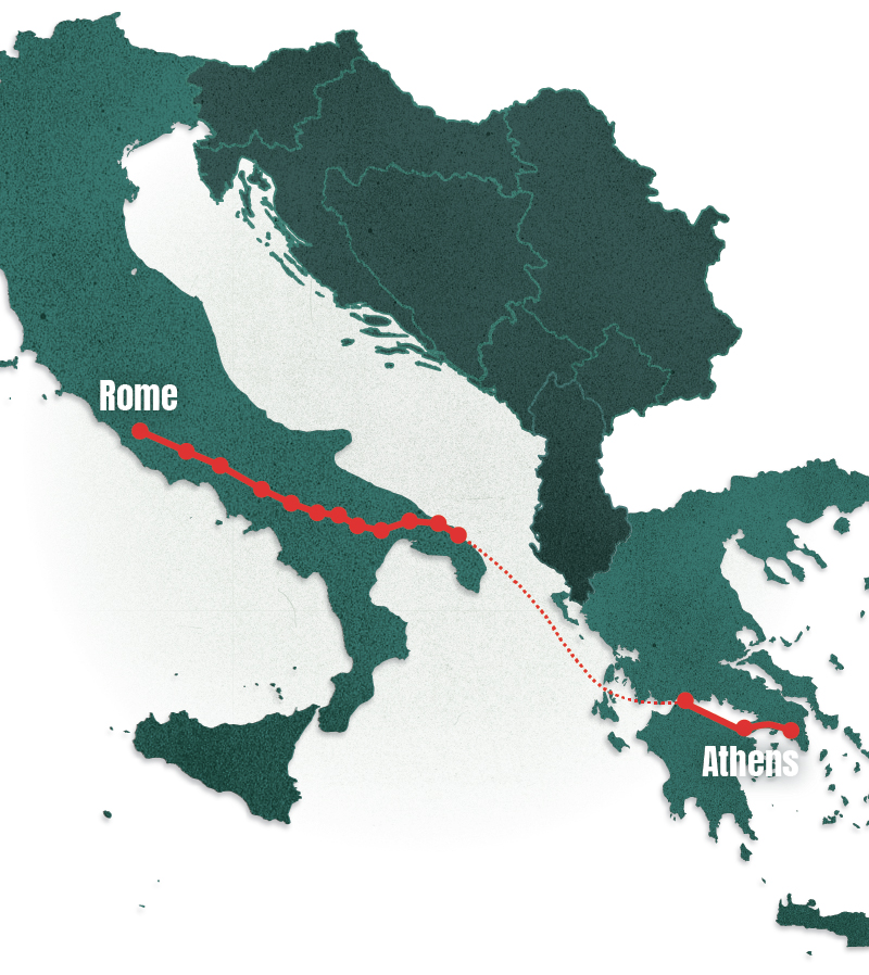 Rome to Athens - Cycling from one ancient civilisation to another - here you can read about what people on the southern fringes of the continent think about the EU and what it means to be European, as well as their views on the Five Star Movement in Italy and the refugee crisis in Greece.