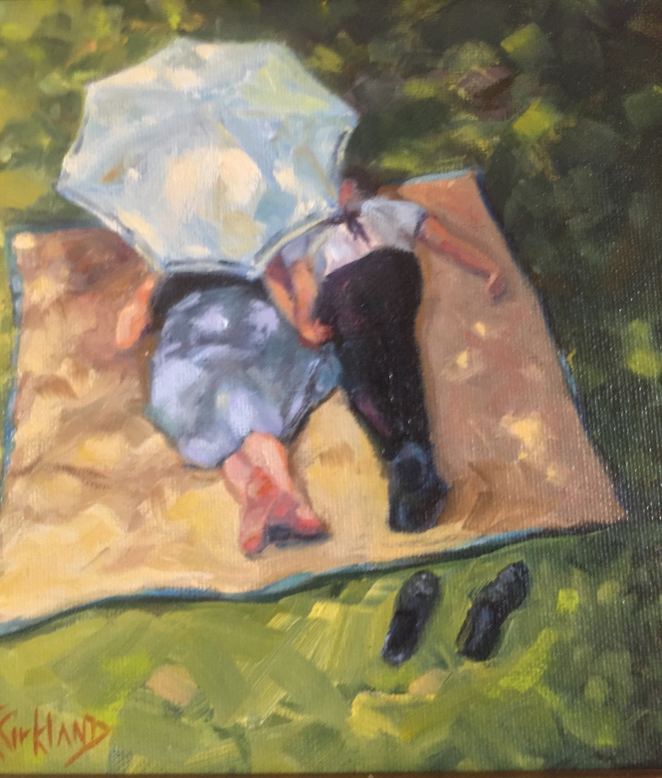 This painting is titled Sabbath and was painted by Julie Kirkland.