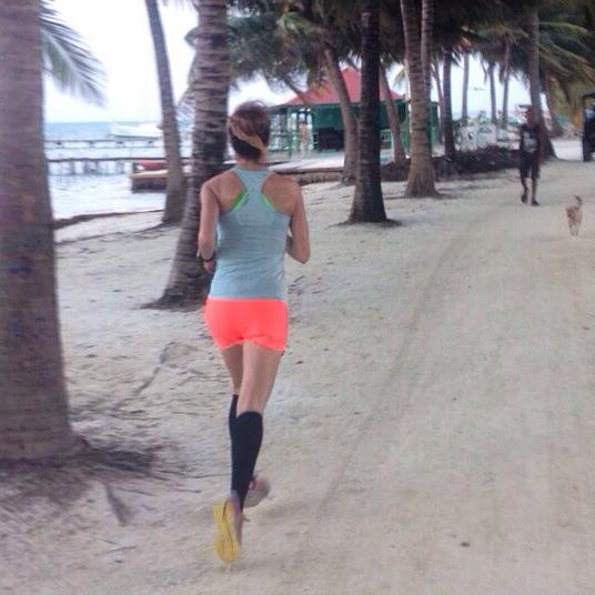 Running in Belize, Christmas 2014