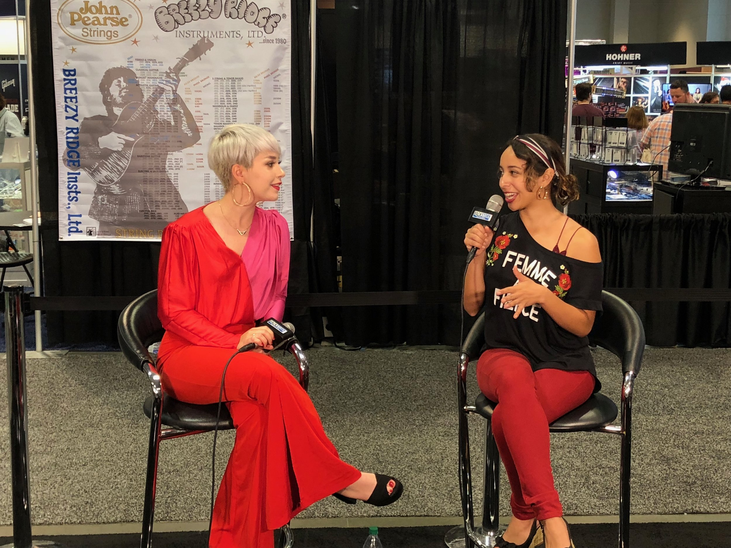 American Songwriter Magazine - Karina interviews with the prestigious magazine to talk about her upcoming projects, and performs a live song at NAMM 2018.