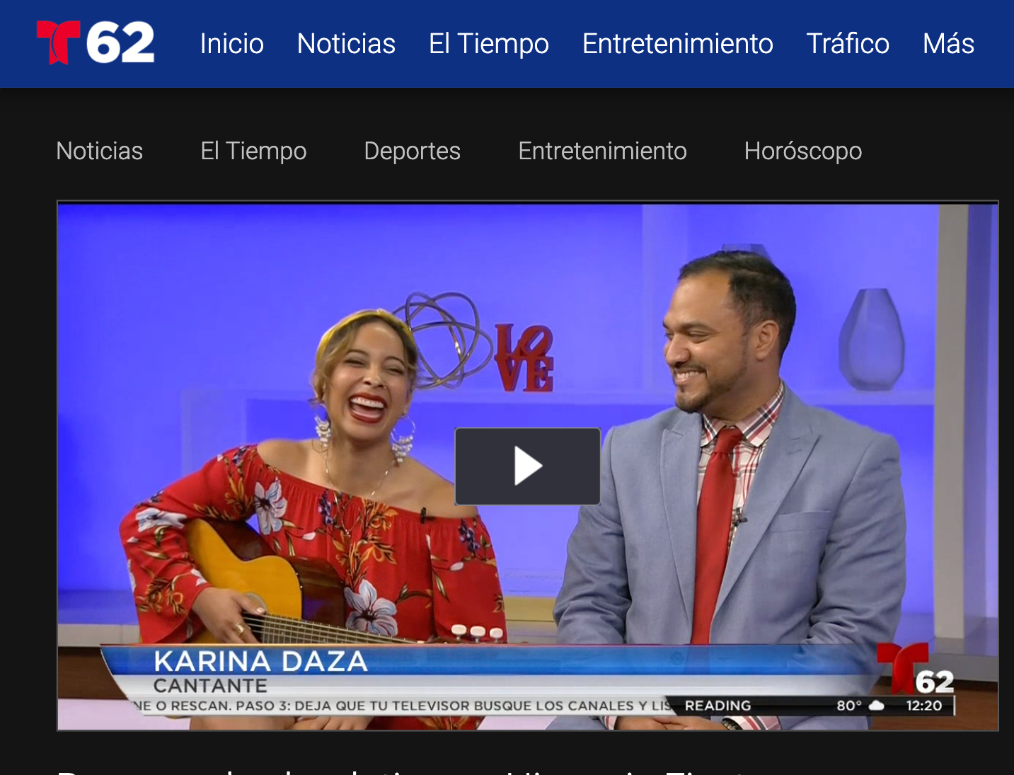 Telemundo - Karina talks about her music and the flavor she's bringing to the 40,000-person audience at Philly's Hispanic Fiesta 2019!