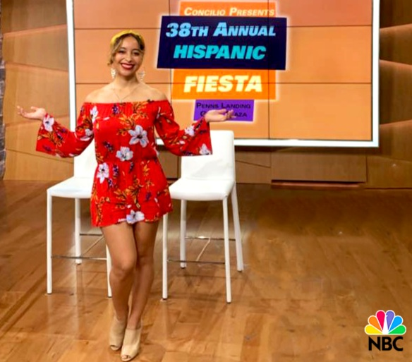 NBC - Karina talks about her music and the flavor she's bringing to the 40,000-person audience at Philly's Hispanic Fiesta 2019!