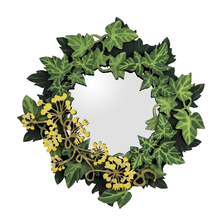 Mini lasercut ivy mirror 25cm x 25cm picture by Jo Hounsome
