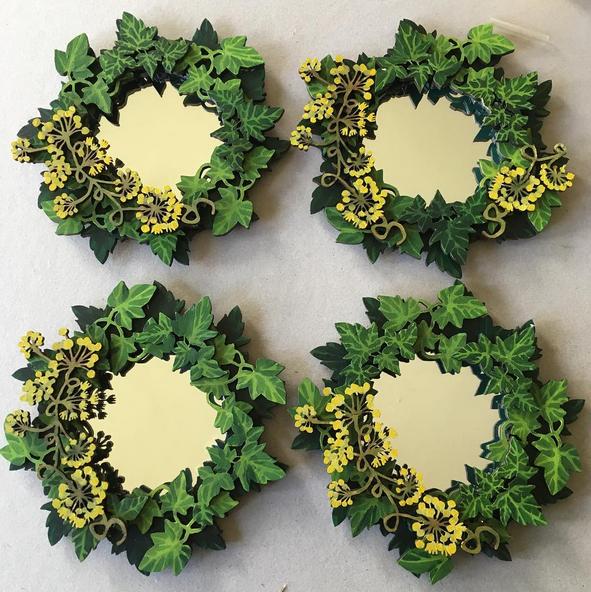 4 mini ivy mirrors
