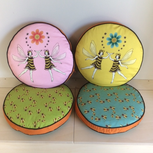 Commissioned round box cushions