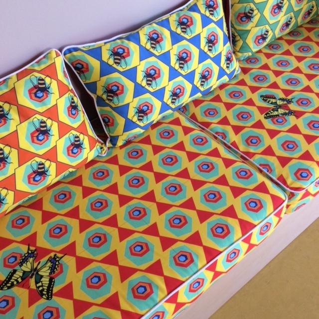 Bespoke kitchen box cushions