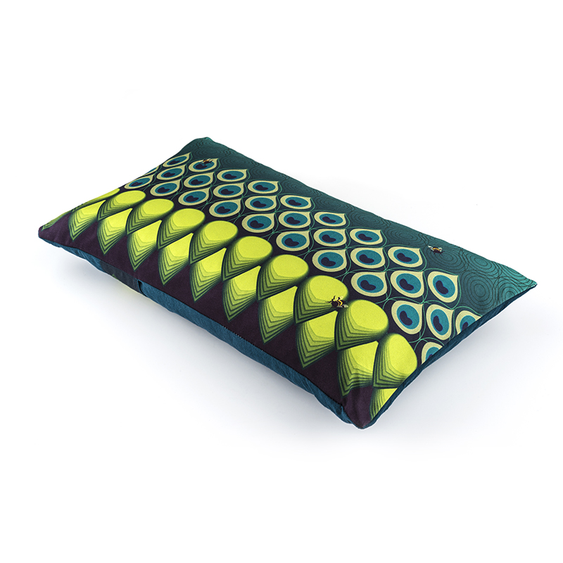 Oblong Peacock parade (turq/lime)