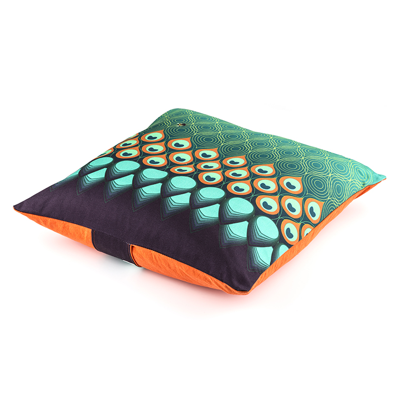 Square Peacock parade (turquoise)
