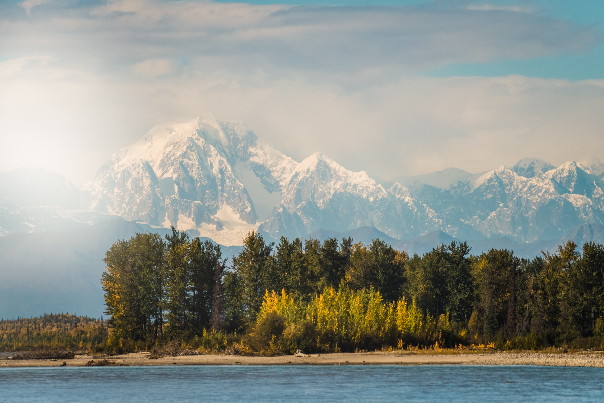 Denali  (also known as Mount  McKinley , which is its former official name) is the highest mountain peak in North America