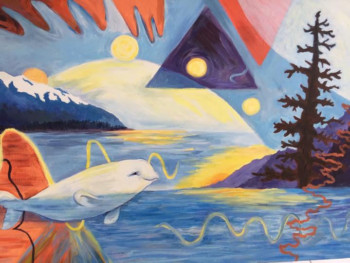 Beluga in Turnagain Arm