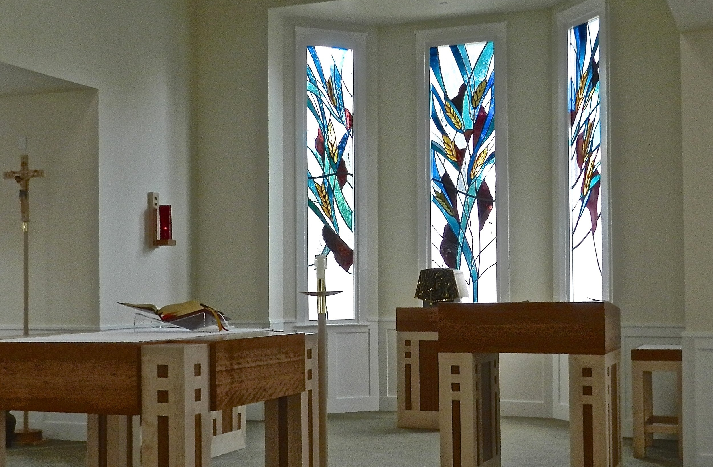Church Art Glass - A church's inherent love and spirit shines ever more brightly through the brilliance of stained and cut glass and iconic images.