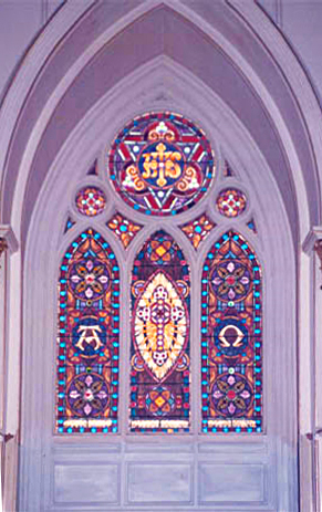 Original altar stained glass