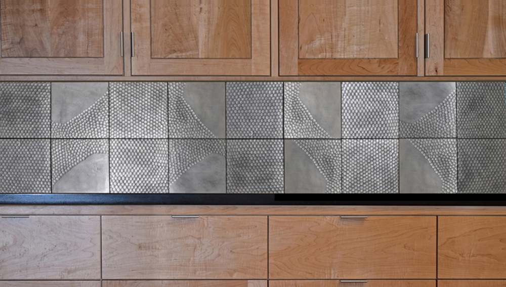 """9"""" x 9"""" Beehive tiles in Silver"""