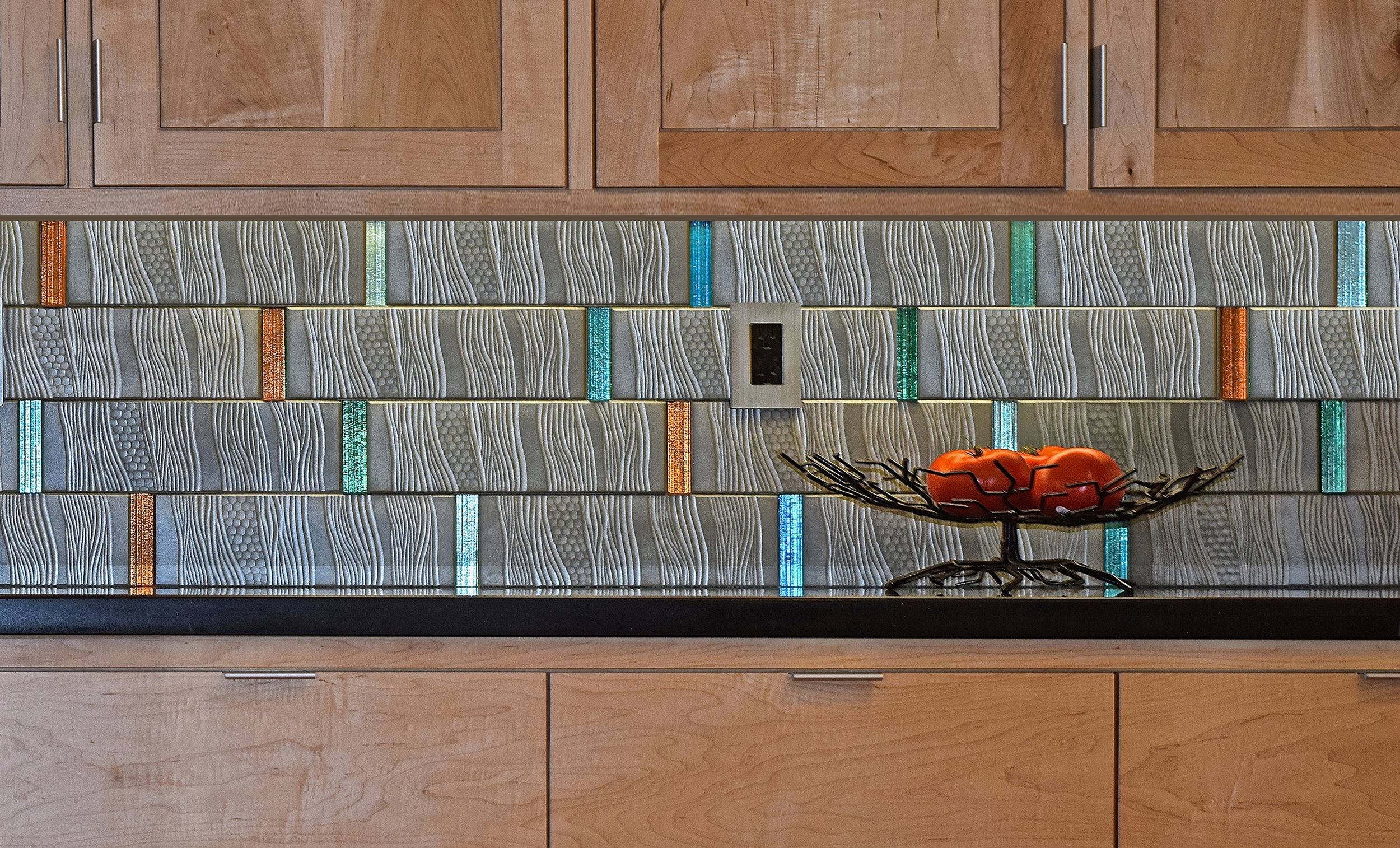 Jewel-tone Backsplash