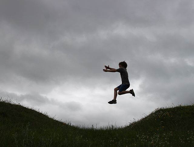 Silhouette jumps  #candidchildhood #flyingthroughtheair #siblings #havingagoodtime