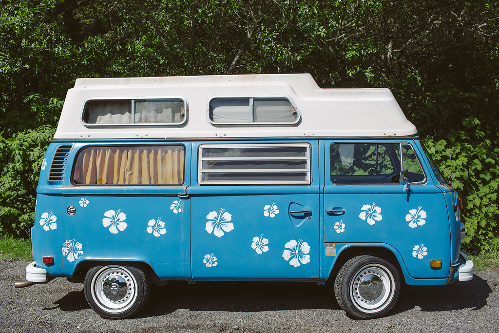 VW Bus with Flowers | Ferndale CA