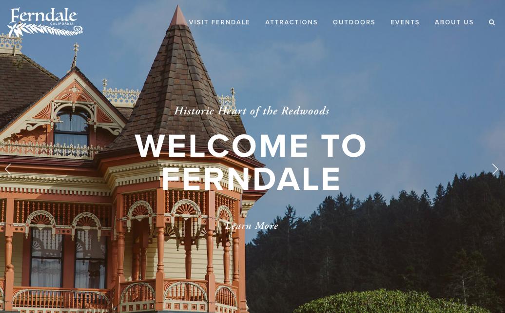 Visit Ferndale   Website Screenshot