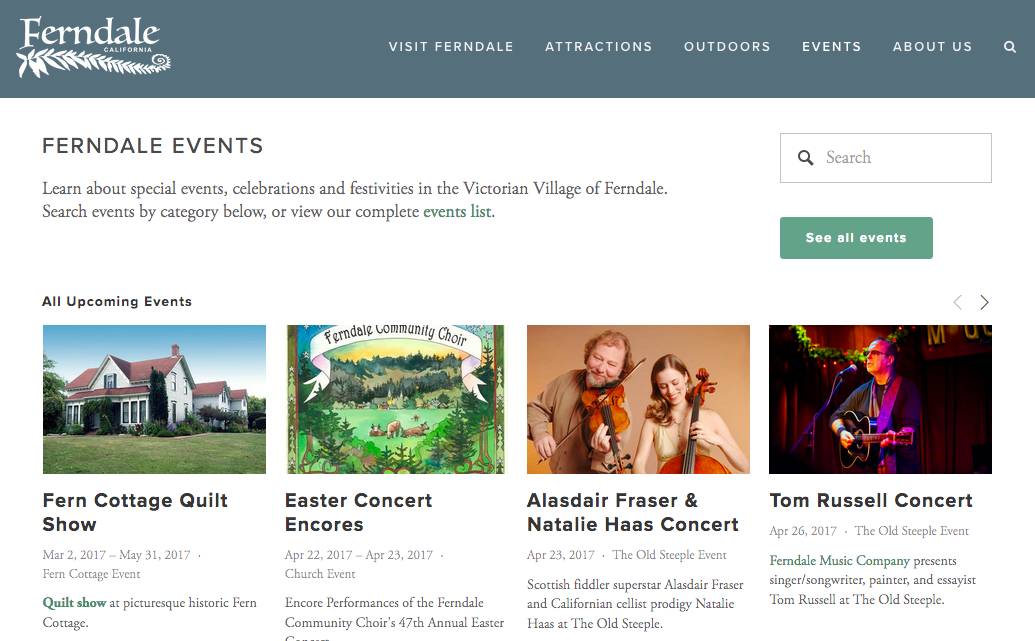 Visit Ferndale   List of Events in Ferndale CA