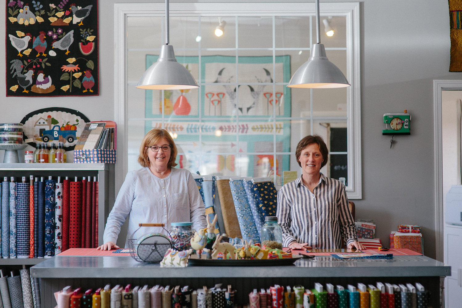 Sally Frey and Jacque Becker, co-owners of Stitch in Ferndale
