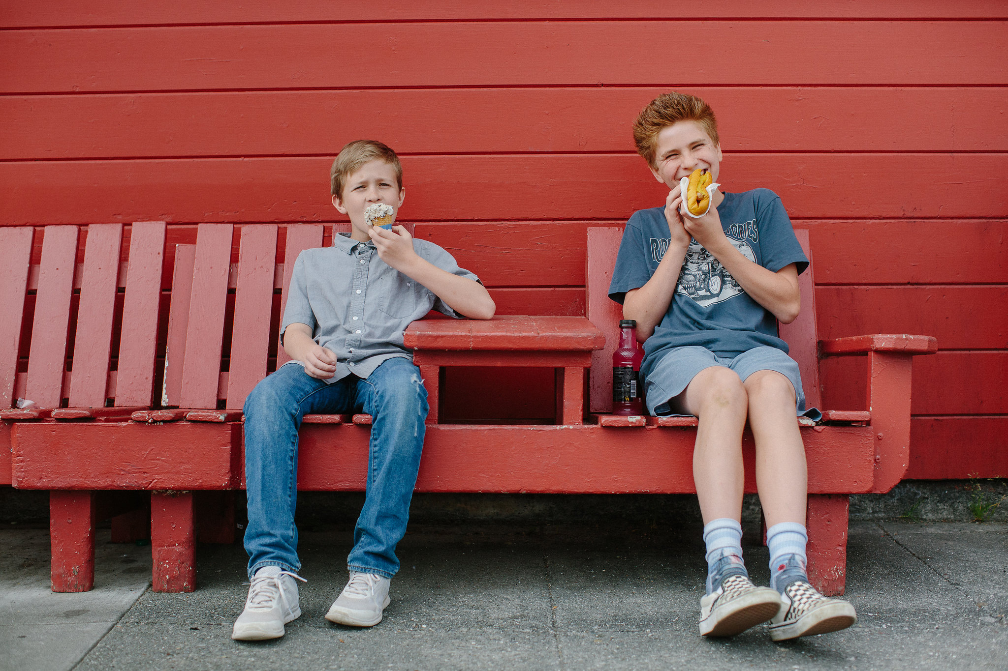 Ice Cream and Hot Dogs Outside Red Front Store | Historic Ferndale CA