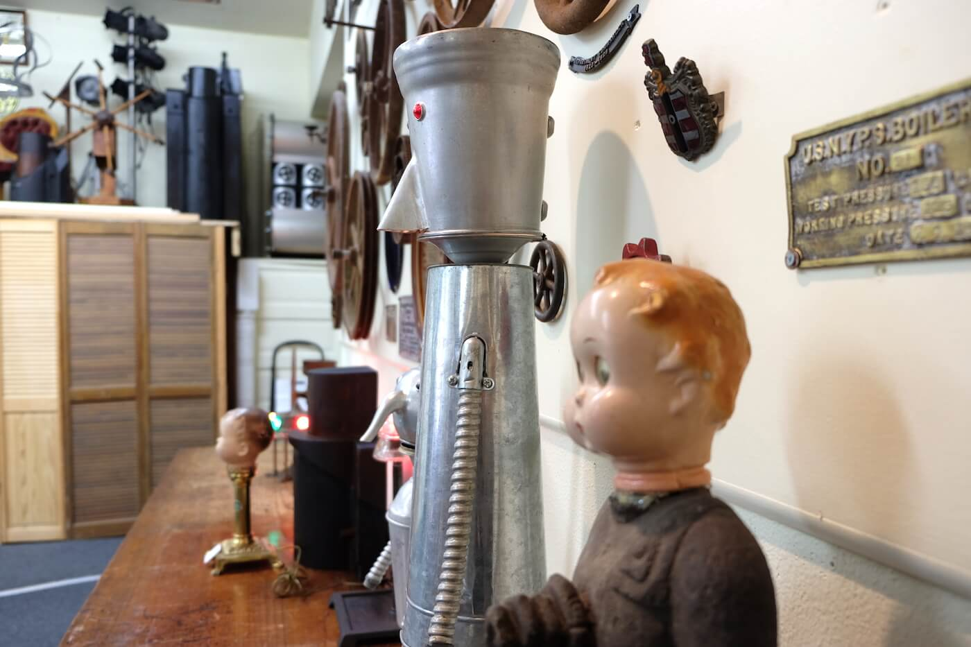 Doll Head Steampunk Art at Spencer's Ferndale Vintage in the Victorian Village.jpeg