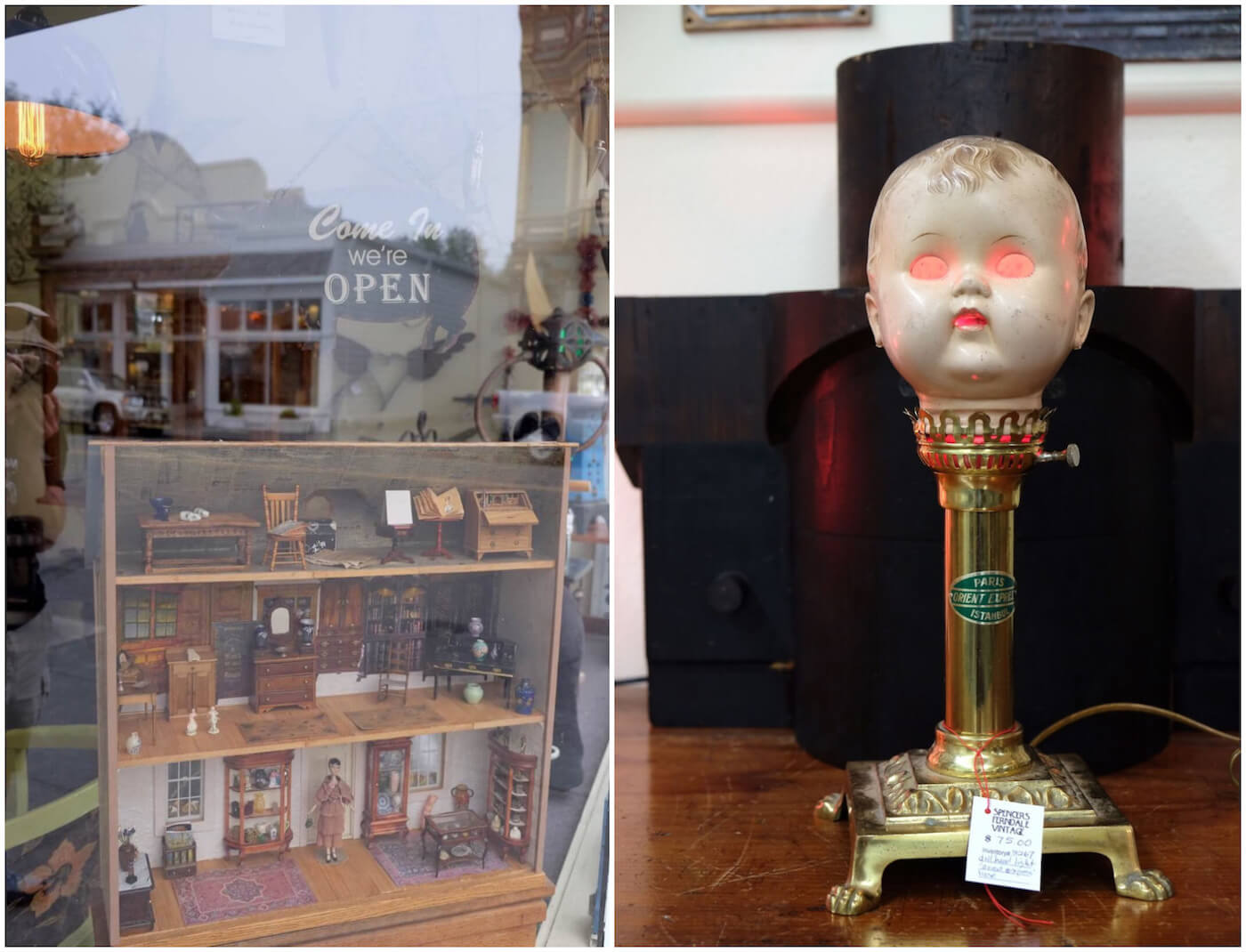 Miniatures and Steampunk Art at Spencers Ferndale Vintage.jpg