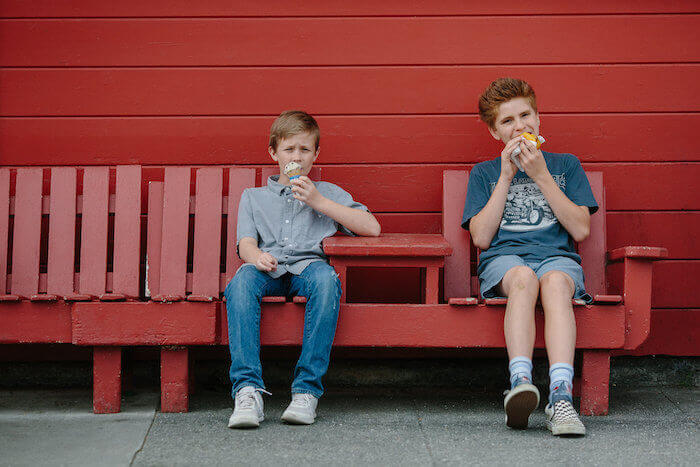 Kids at the Red Front Store Famous Ferndale Hot Dogs in Ferndale CA.jpeg