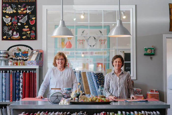 Sally and Jacque of Stitch quilt shop in Ferndale