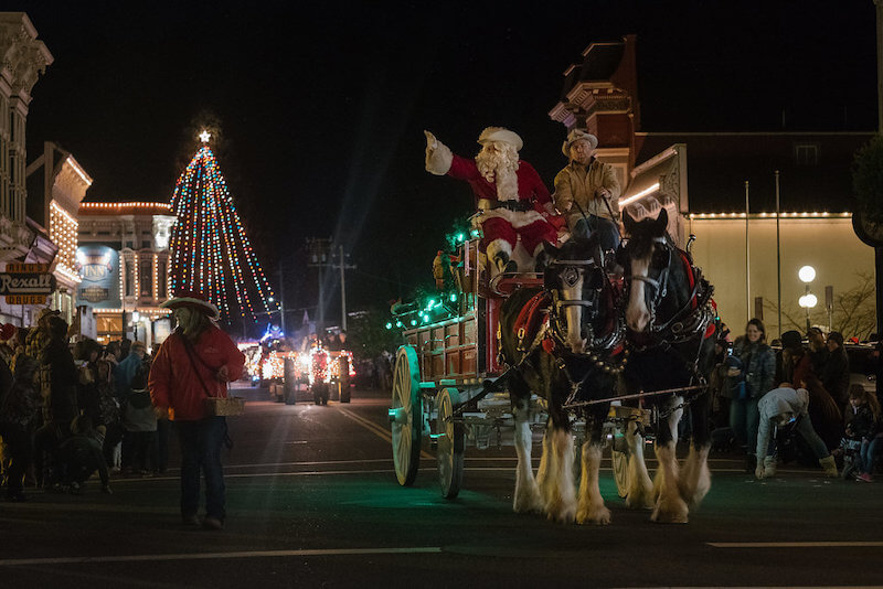 Santa at Christmas Lighted Tractor Parade in Victorian Ferndale CA.jpeg