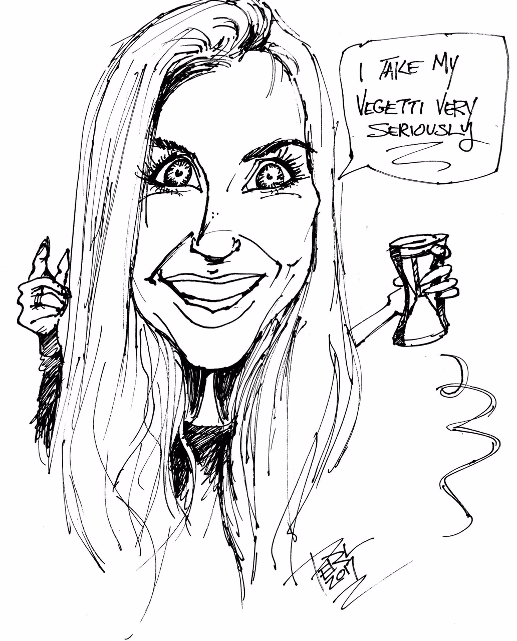 Thanks for this super fun caricature, William Perlman! (Friend of  Abbie Live !)