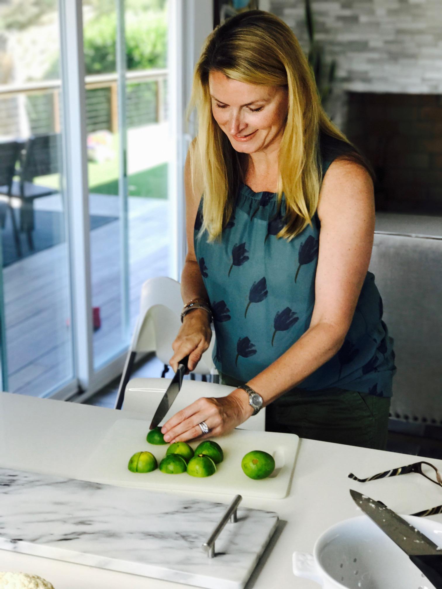 My Nashville girl  Jennifer Solum  prepping some limes!! Where's the margarita???? LOL!