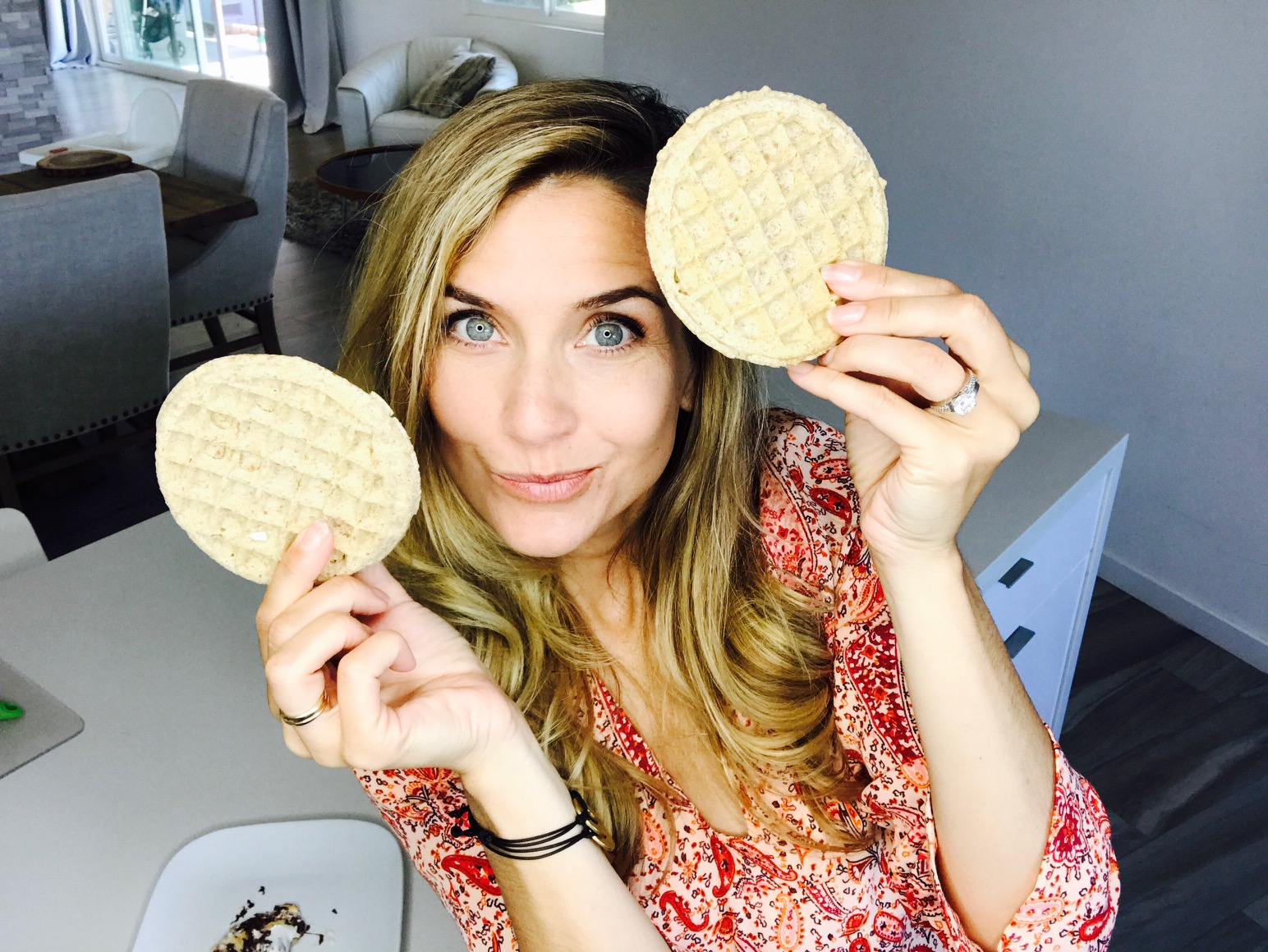 Grab a waffle and let's get camping! Sort of.... Indoor s'mores at their finest.