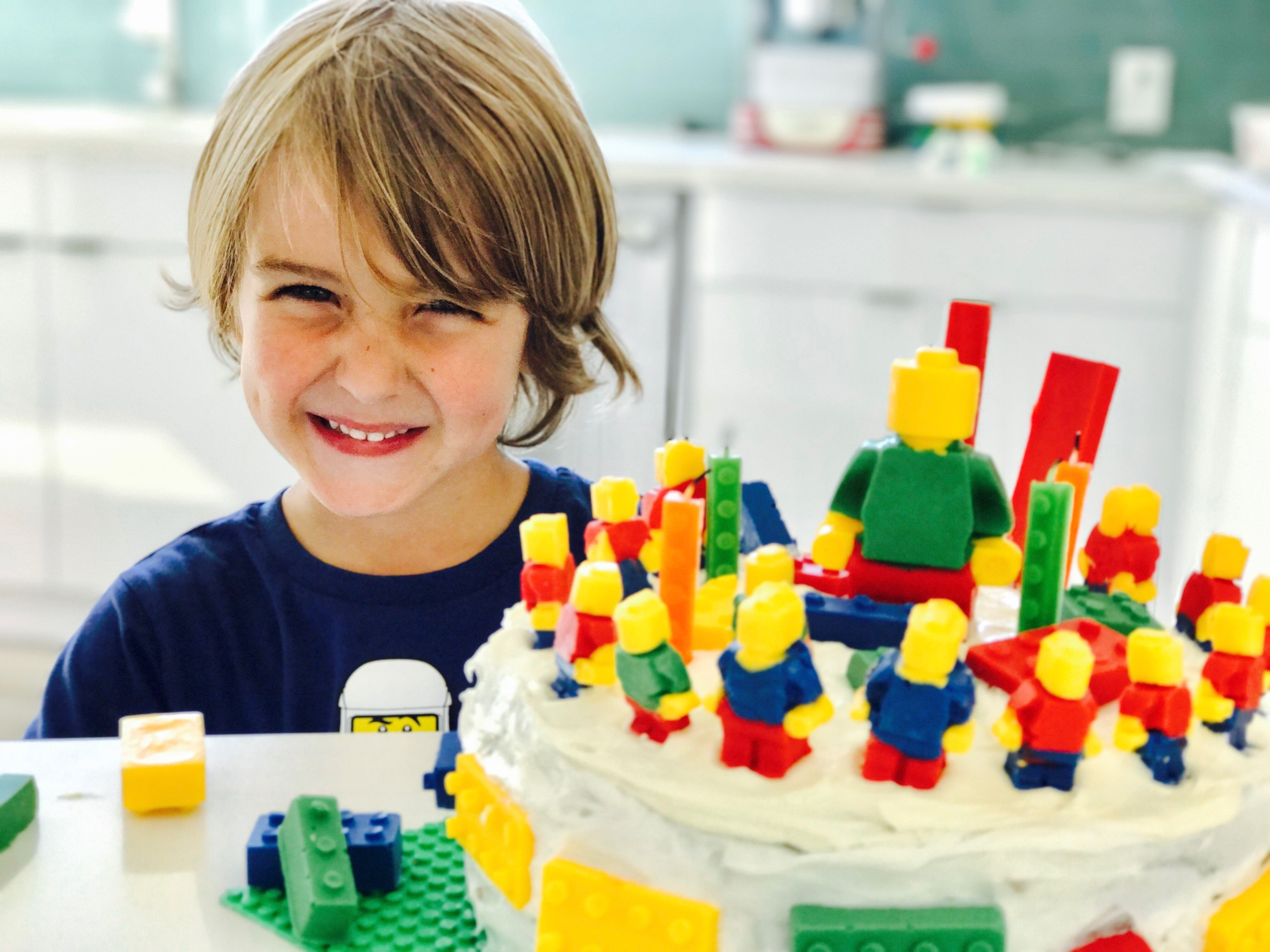 Nothing could have made me happier than seeing my now 5-YEAR-OLD get so excited for his LEGO birthday cake!
