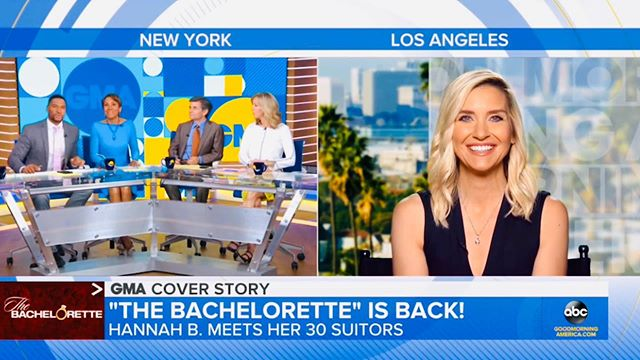 @bacheloretteabc is back!!!! So excited to follow @alabamahannah and her journey to (hopefully) find LOVE 💕 this season! Check out my @goodmorningamerica story from this morning! @chrisbharrison  #bachelornation #thebachelorette #thebachelor