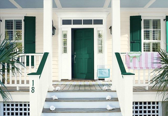 Make a great first impression with a pop of color in the front of your home!