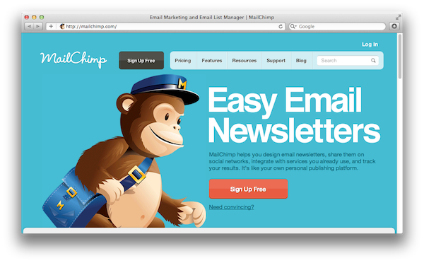 Mailchimp IS ONE OF THE EASIEST WAYS TO MANAGE A NEWSLETTER LIST & SEND NEWSLETTERS.