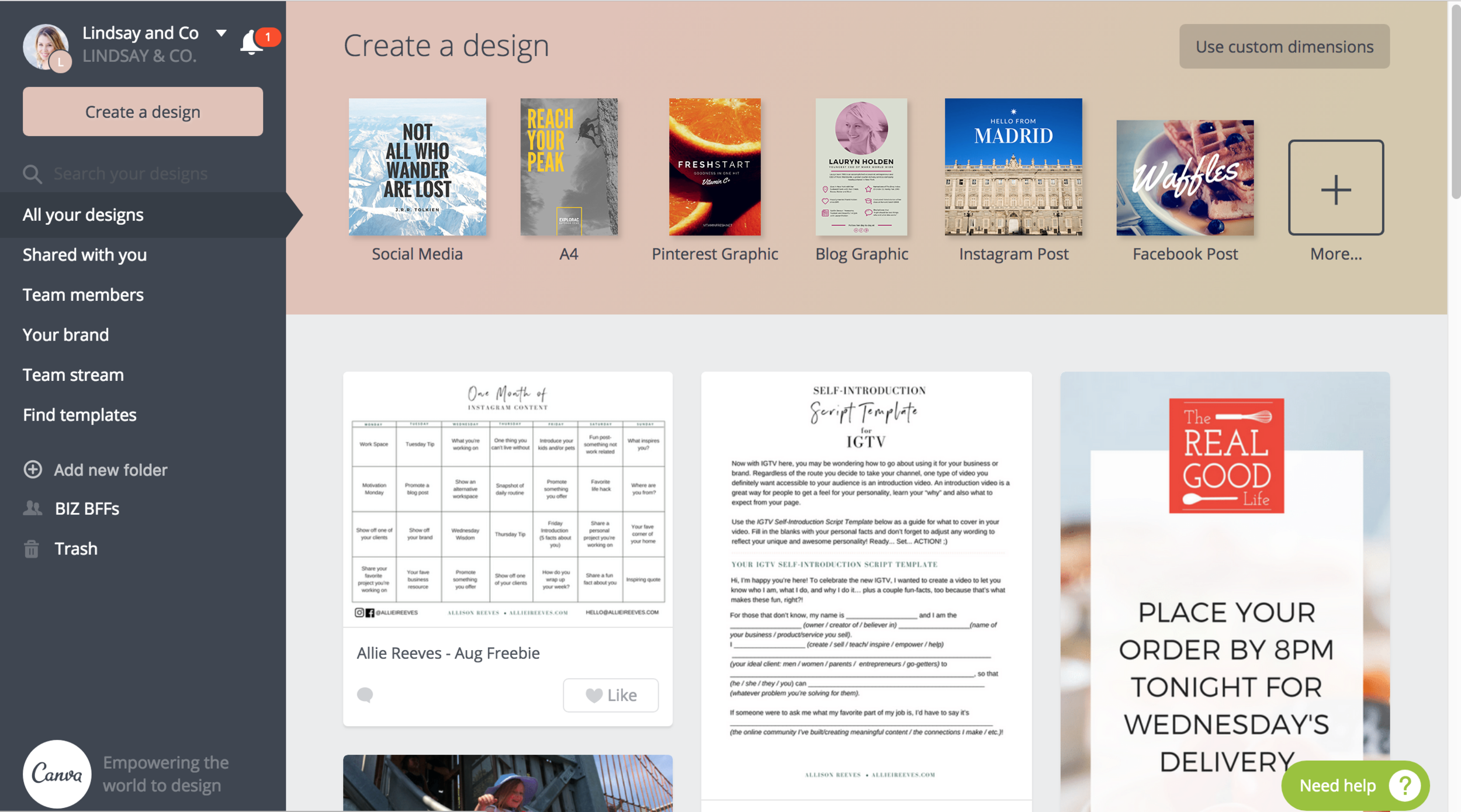 Canva makes creating graphics and PDFs for email freebies so so so easy.